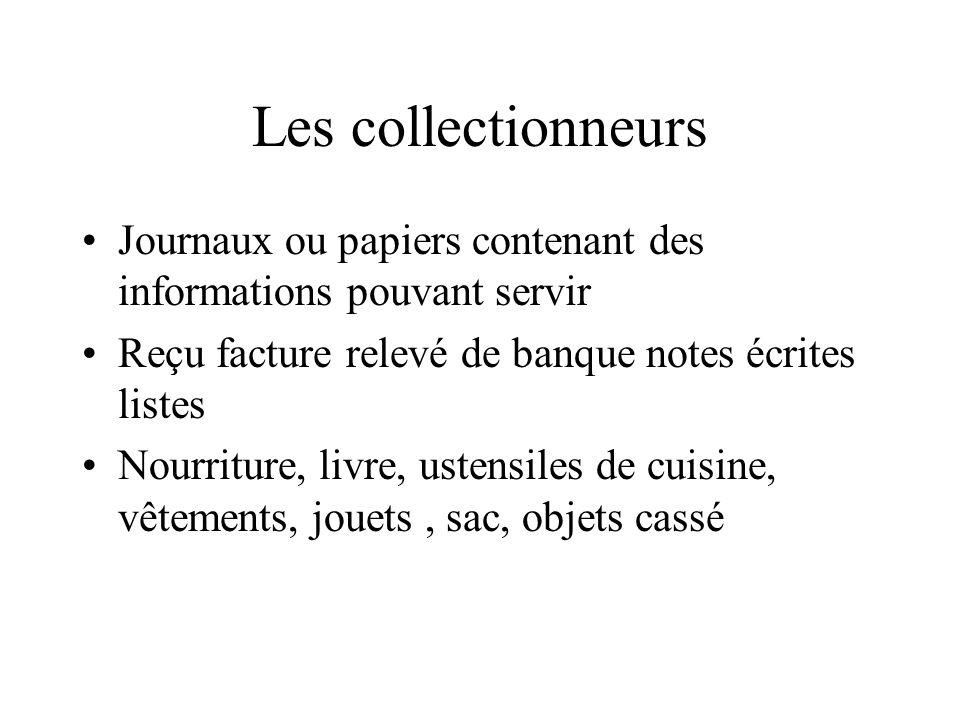 Les collectionneurs Journaux ou papiers contenant des informations pouvant servir Reçu facture relevé de banque notes écrites listes Nourriture, livre