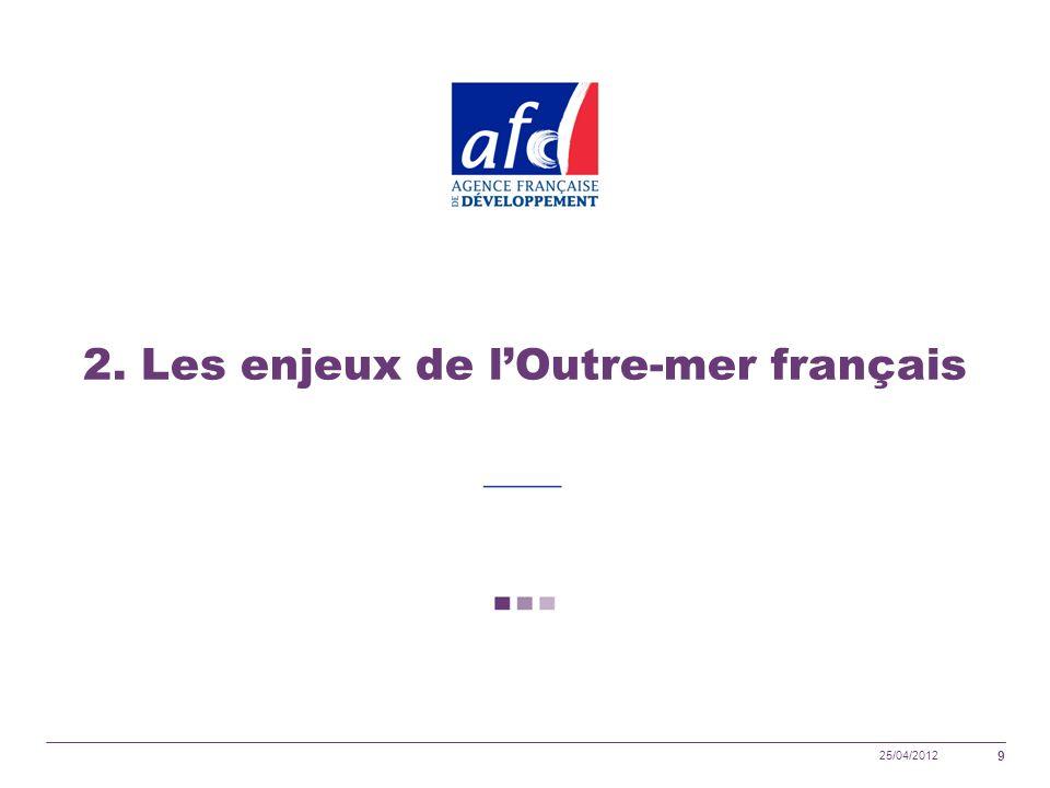 25/04/2012 9 2. Les enjeux de lOutre-mer français