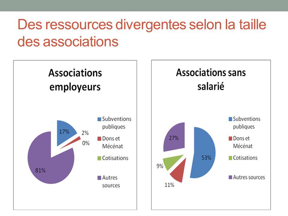 Des ressources divergentes selon la taille des associations