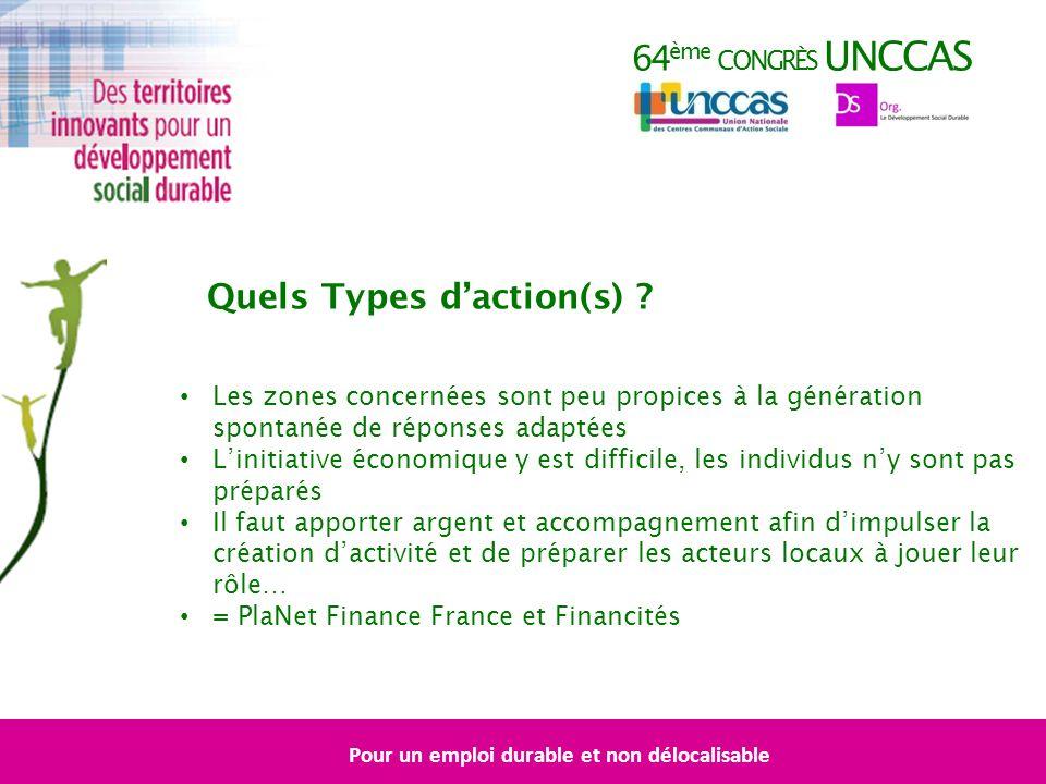 64 ème CONGRÈS UNCCAS Quels Types daction(s) .