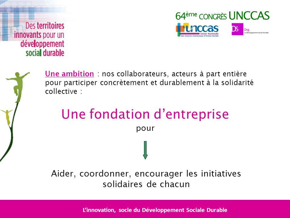 64 ème CONGRÈS UNCCAS Une ambition : nos collaborateurs, acteurs à part entière pour participer concrètement et durablement à la solidarité collective