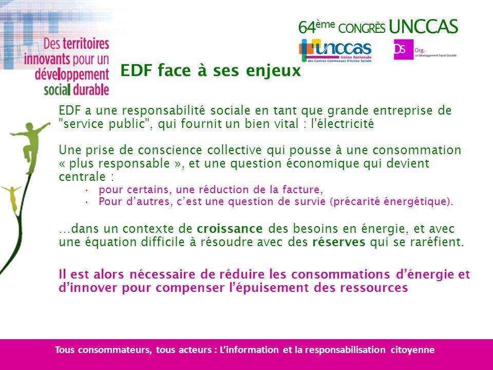 64 ème CONGRÈS UNCCAS EDF a une responsabilité sociale en tant que grande entreprise de