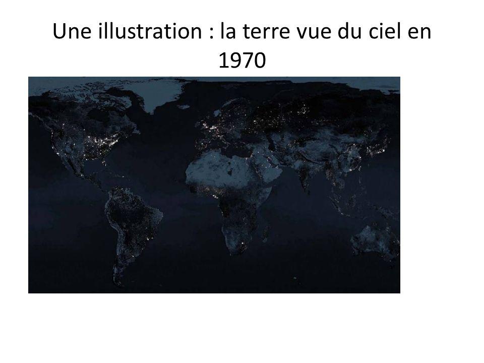 Une illustration : la terre vue du ciel en 1970