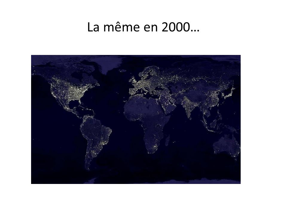La même en 2000…