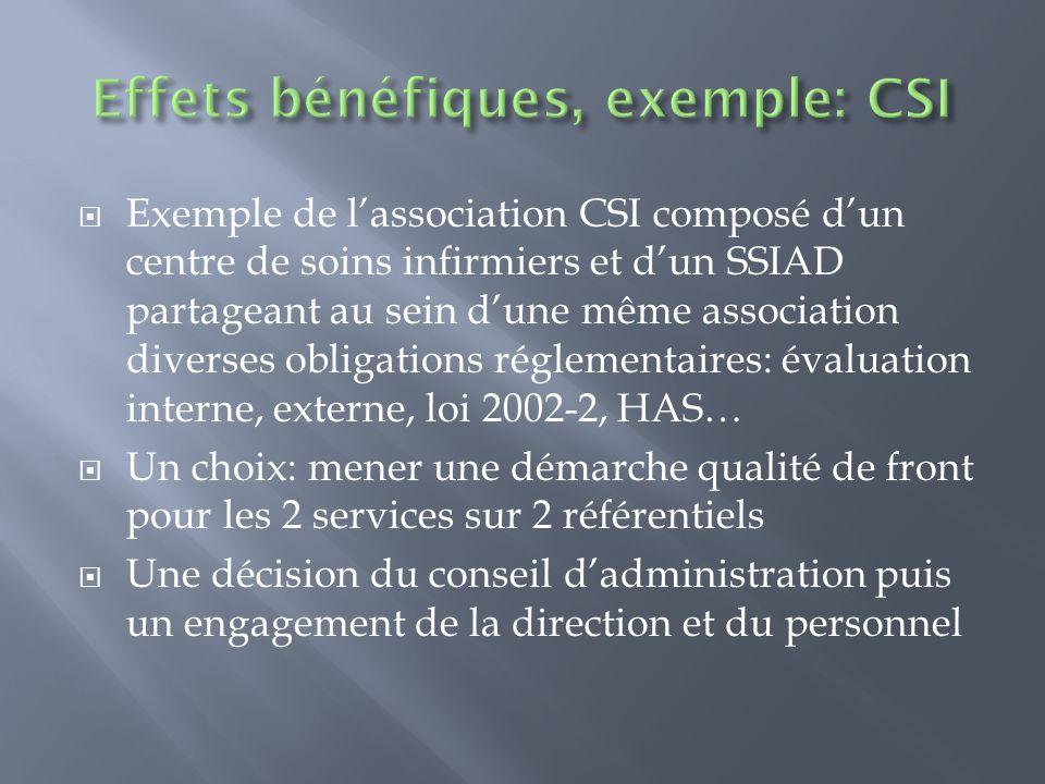 Exemple de lassociation CSI composé dun centre de soins infirmiers et dun SSIAD partageant au sein dune même association diverses obligations réglemen