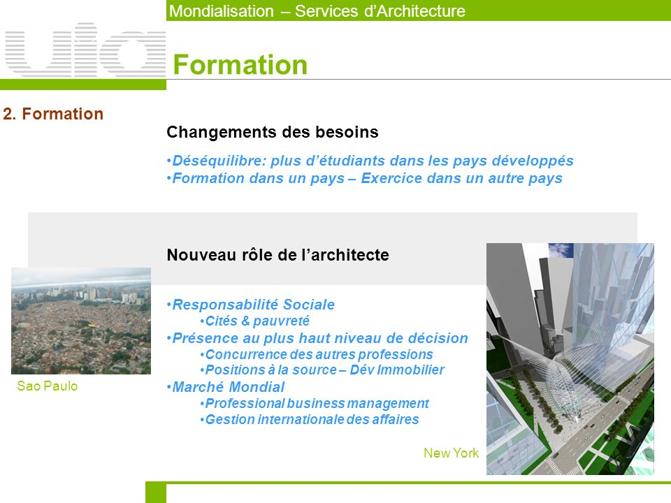 Mondialisation – Services dArchitecture Exercice 3.