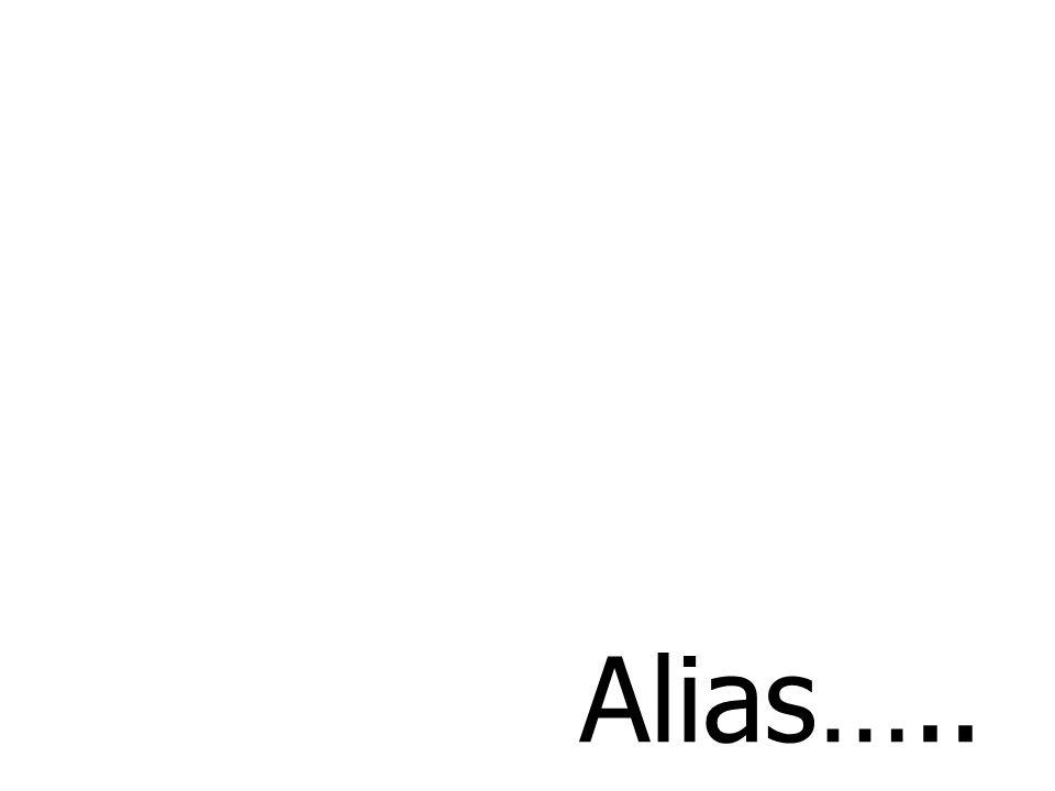 Alias…..