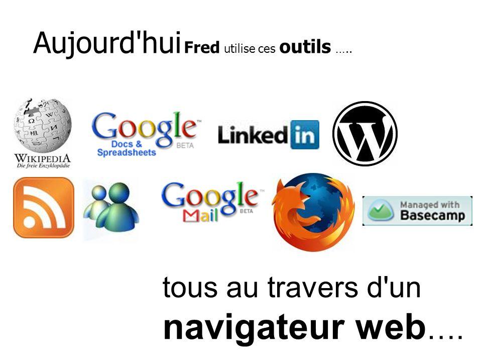 Aujourd'hui Fred utilise ces outils ….. tous au travers d'un navigateur web ….