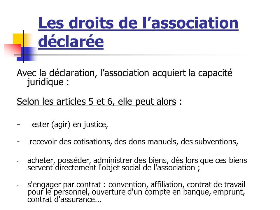 Lassociation déclarée Une association sportive doit être déclarée ! La déclaration passe par une procédure administrative auprès de la Préfecture du d