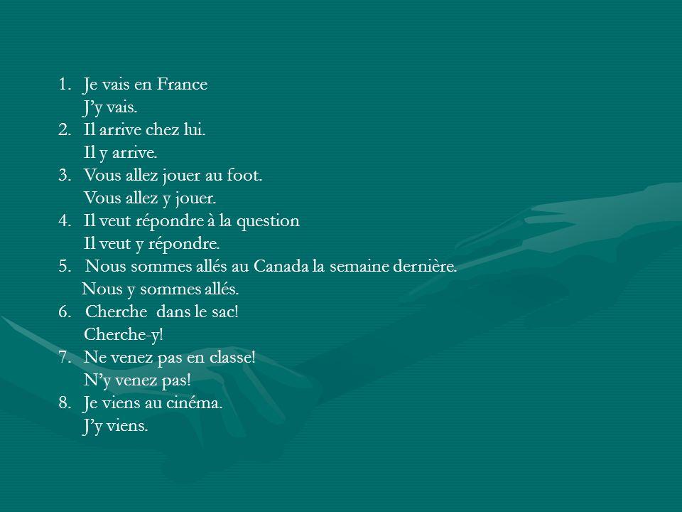 Le Pronom EN Note the use of the pronoun EN in the following sentences:Note the use of the pronoun EN in the following sentences: Tu fais du jogging?Tu fais du jogging.