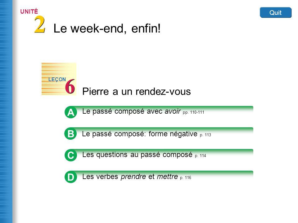 Home Pierre a un rendez-vous 6 6 LEÇON Link to Image A Le passé composé avec avoir pp.
