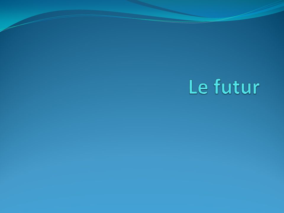 The future is used to describe what people WILL do and what WILL happen.