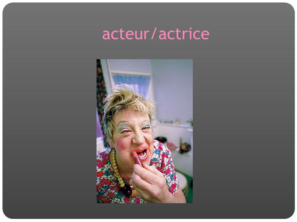 acteur/actrice