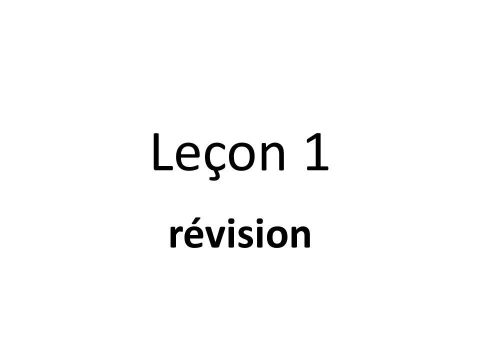 Leçon 1 révision