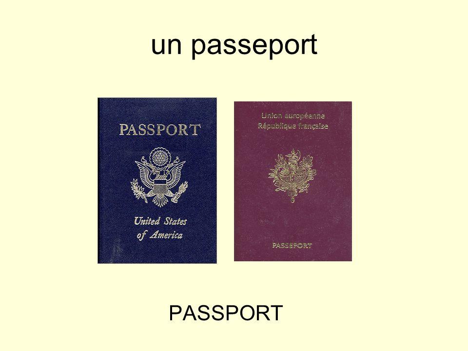 un passeport PASSPORT