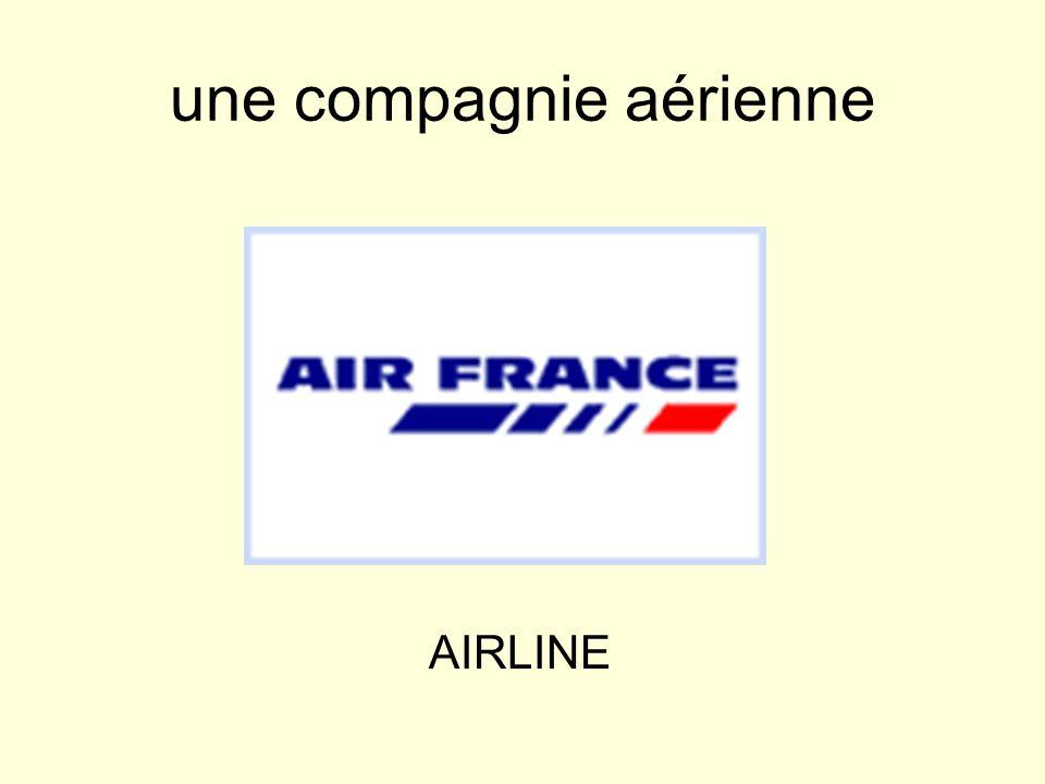 une compagnie aérienne AIRLINE