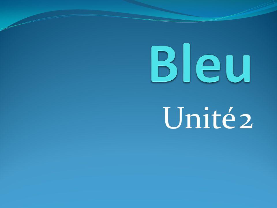 Bleu Unité 2 un thé