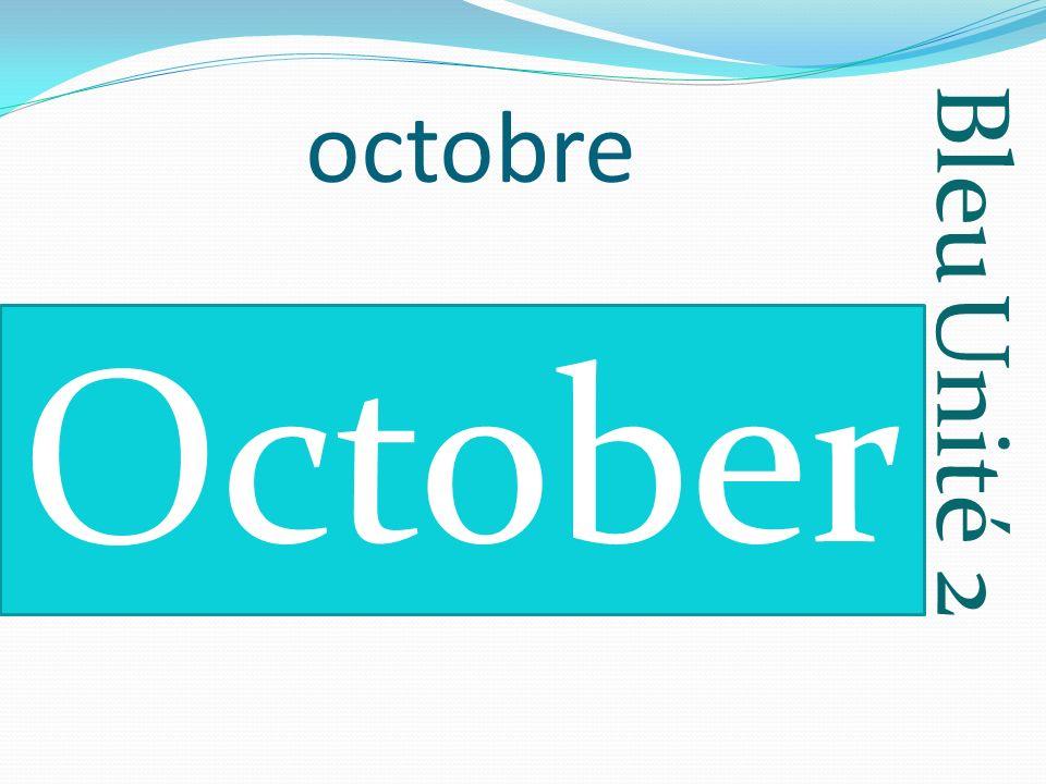 Bleu Unité 2 octobre October