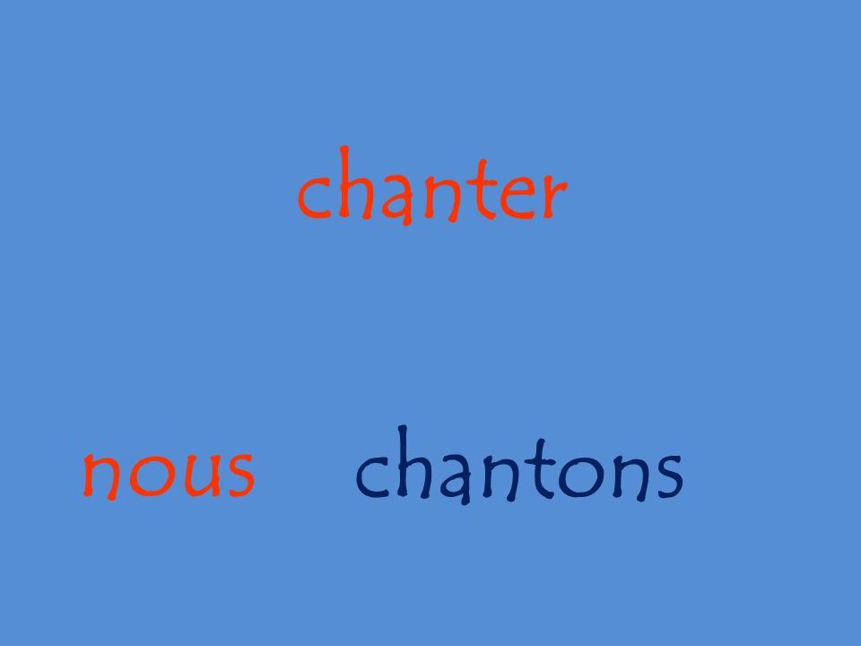 nous chanter chantons