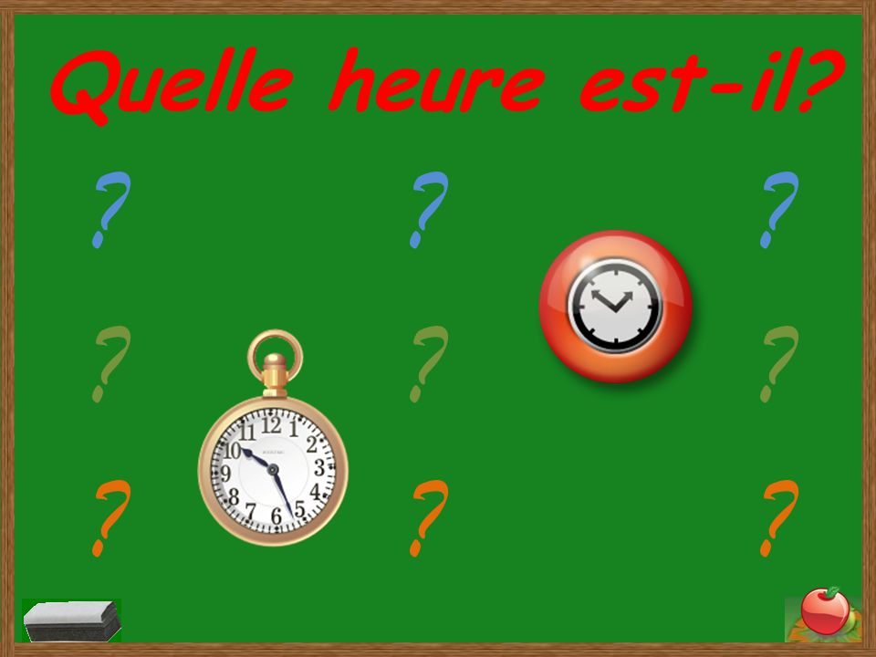 Lheure Telling time in French Q1 Q2 Q3