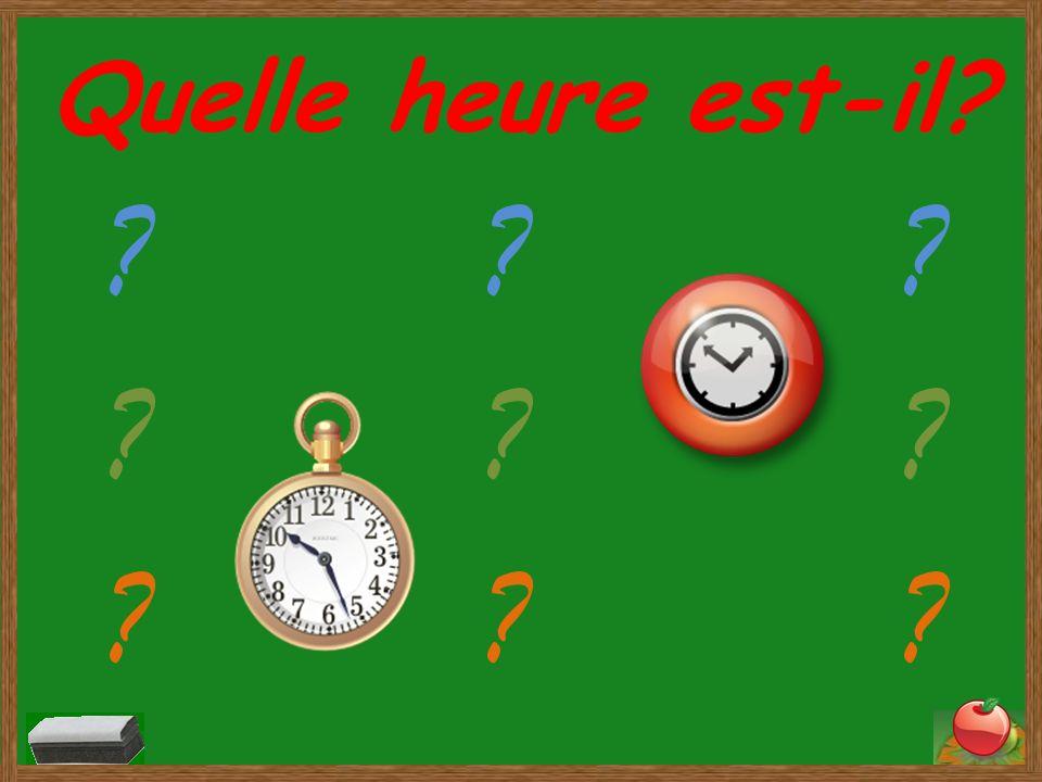 Quelle heure est-il? Il est midi vingt-cinq.
