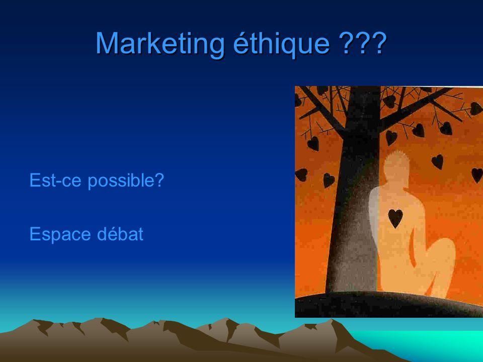 Marketing éthique ??? Est-ce possible? Espace débat
