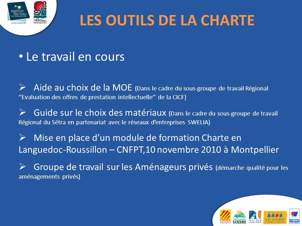 Le travail en cours Aide au choix de la MOE (Dans le cadre du sous-groupe de travail Régional Evaluation des offres de prestation intellectuelle de la
