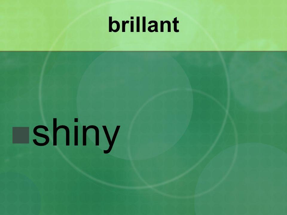 brillant shiny