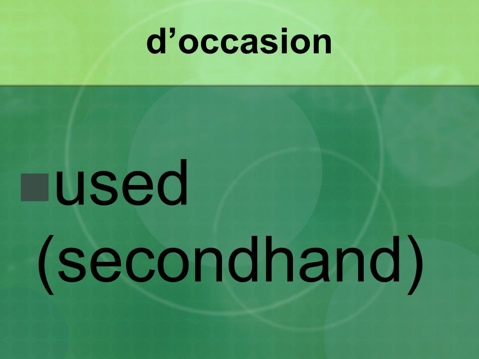 doccasion used (secondhand)