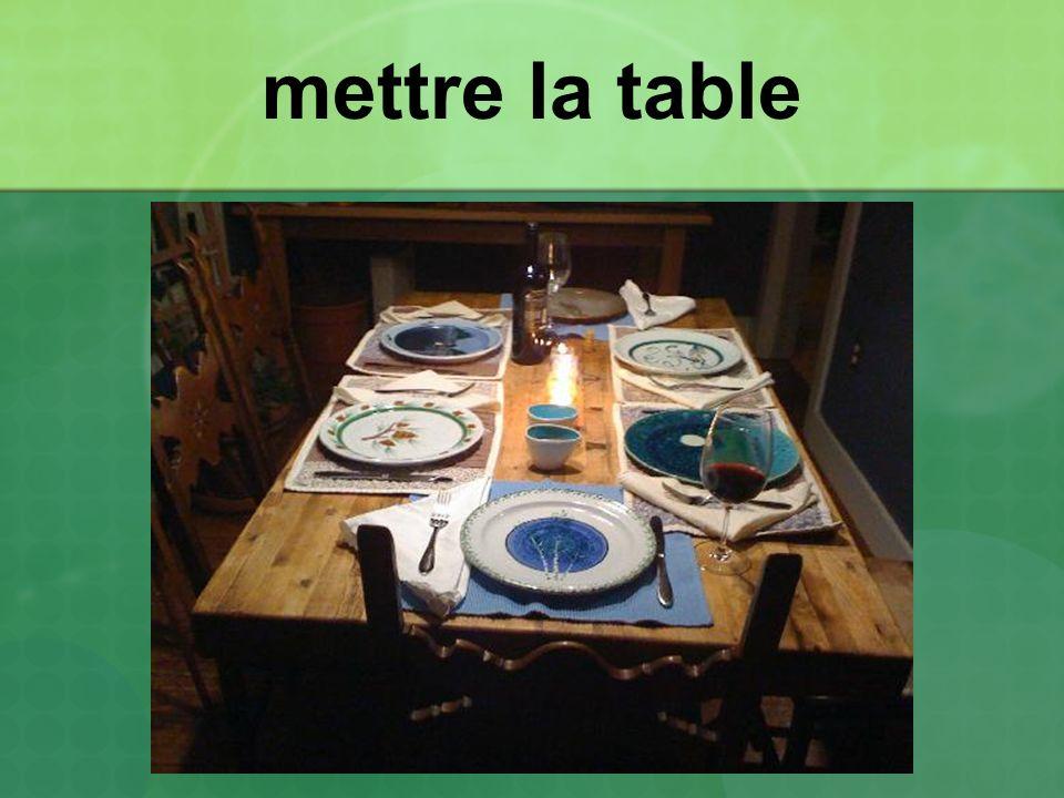 mettre la table