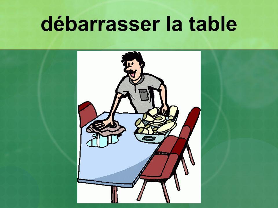 débarrasser la table