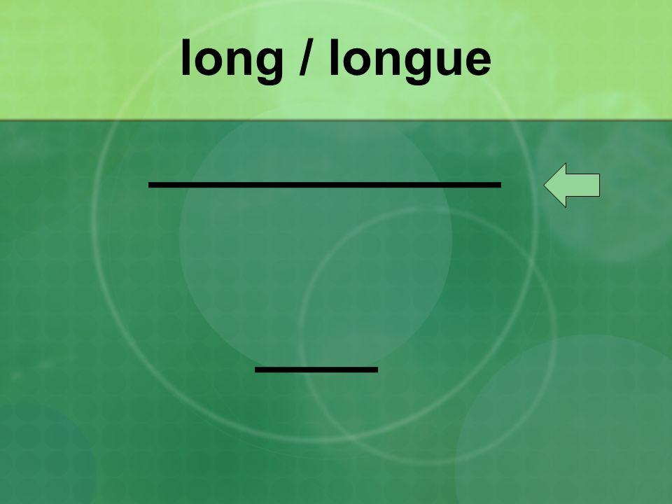 long / longue