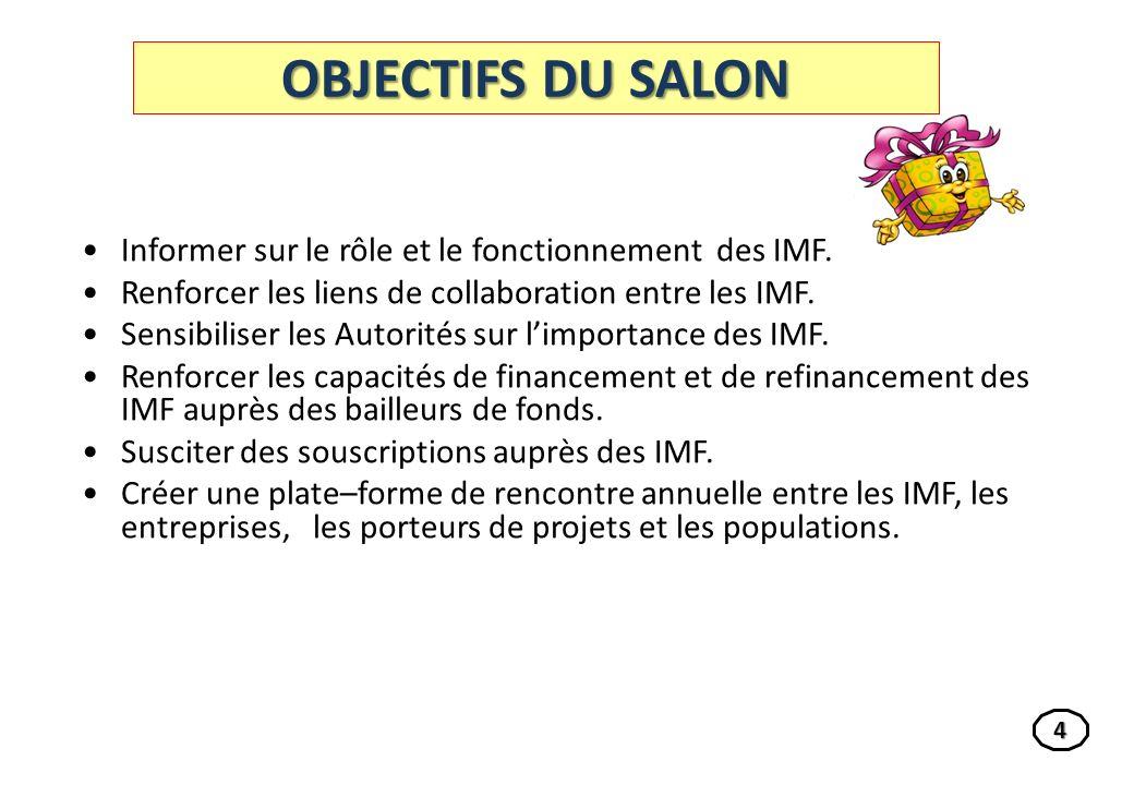 LES THEMES DU SALON THEME 2 THEME 2 : Mise en œuvre de la micro assurance au sein des IMF.