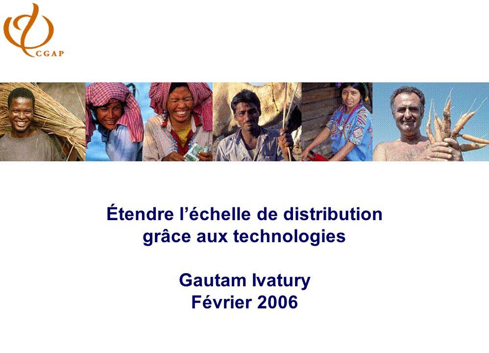2 Augmenter léchelle de la microfinance l Offrir divers produits l Offrir des services à un prix abordable l Servir un large panel de clients (des très pauvres jusquau PME)