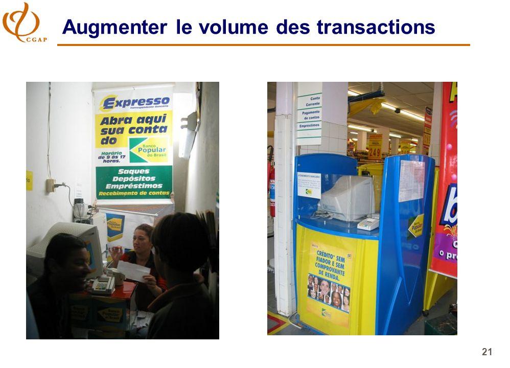 21 Augmenter le volume des transactions