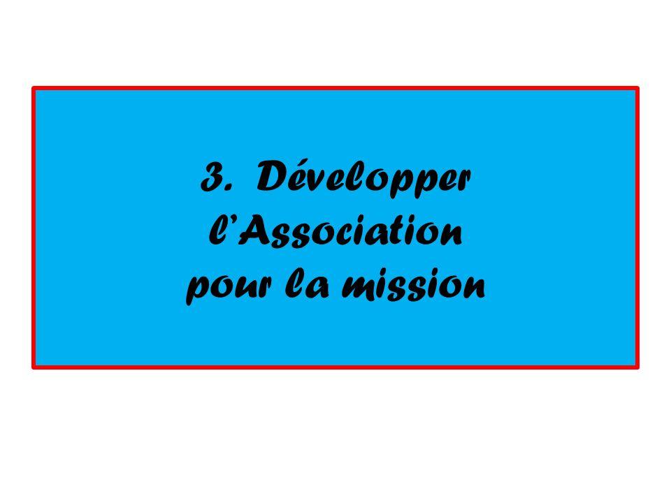 3. Développer lAssociation pour la mission