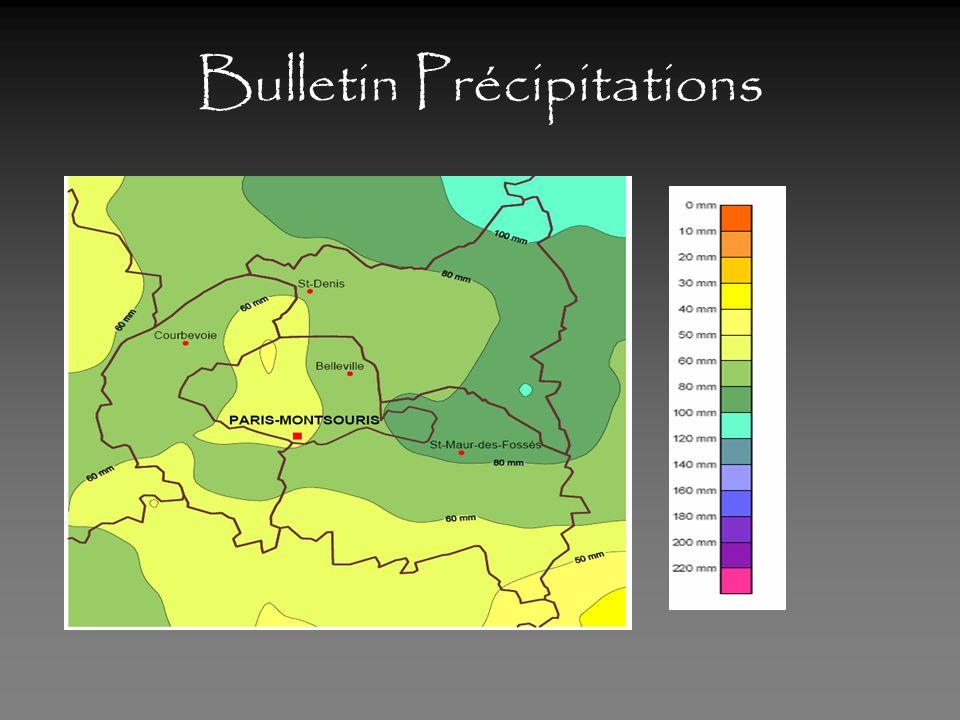 Bulletin Précipitations