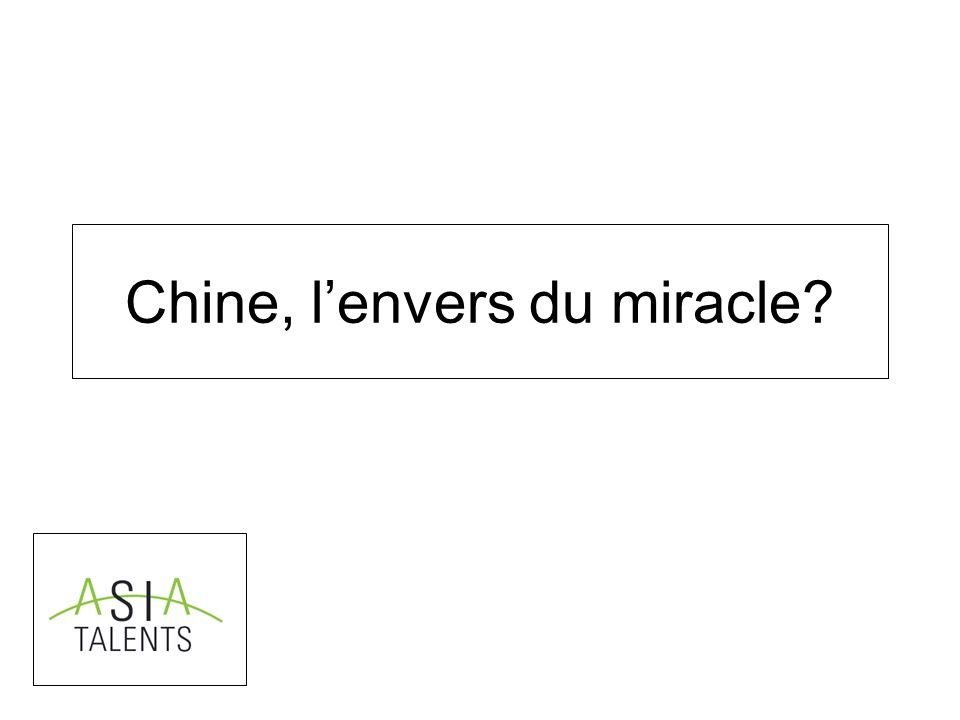 Chine, lenvers du miracle