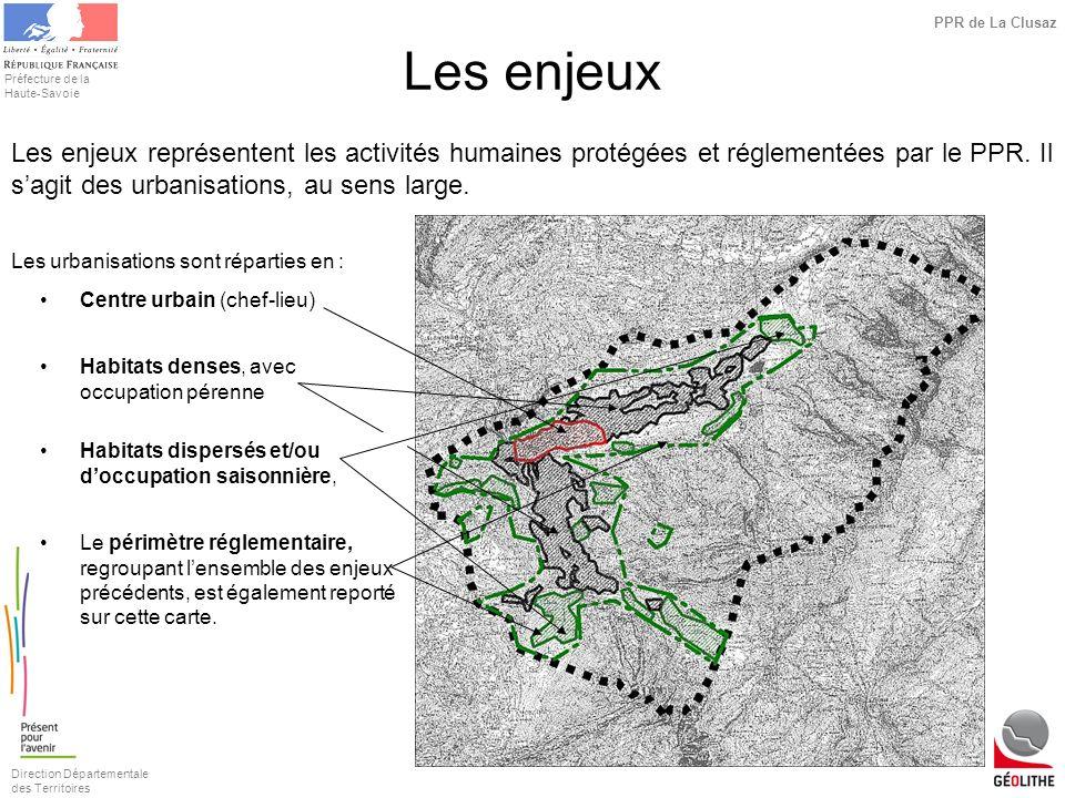Direction Départementale des Territoires Préfecture de la Haute-Savoie PPR de La Clusaz Les urbanisations sont réparties en : Centre urbain (chef-lieu