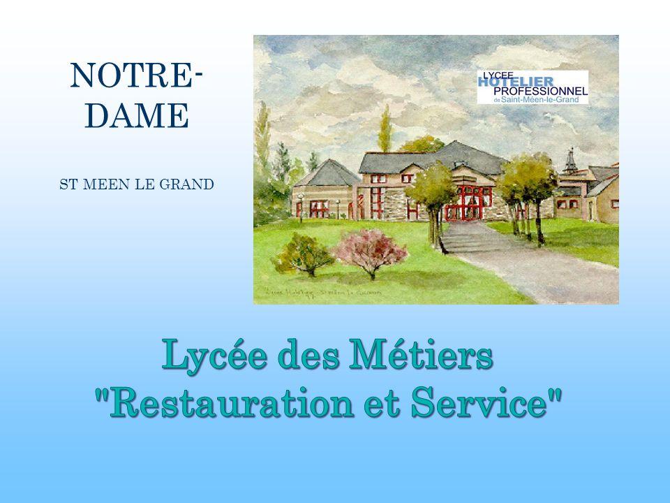 Bienvenue dans les Métiers de la Restauration et de lHôtellerie