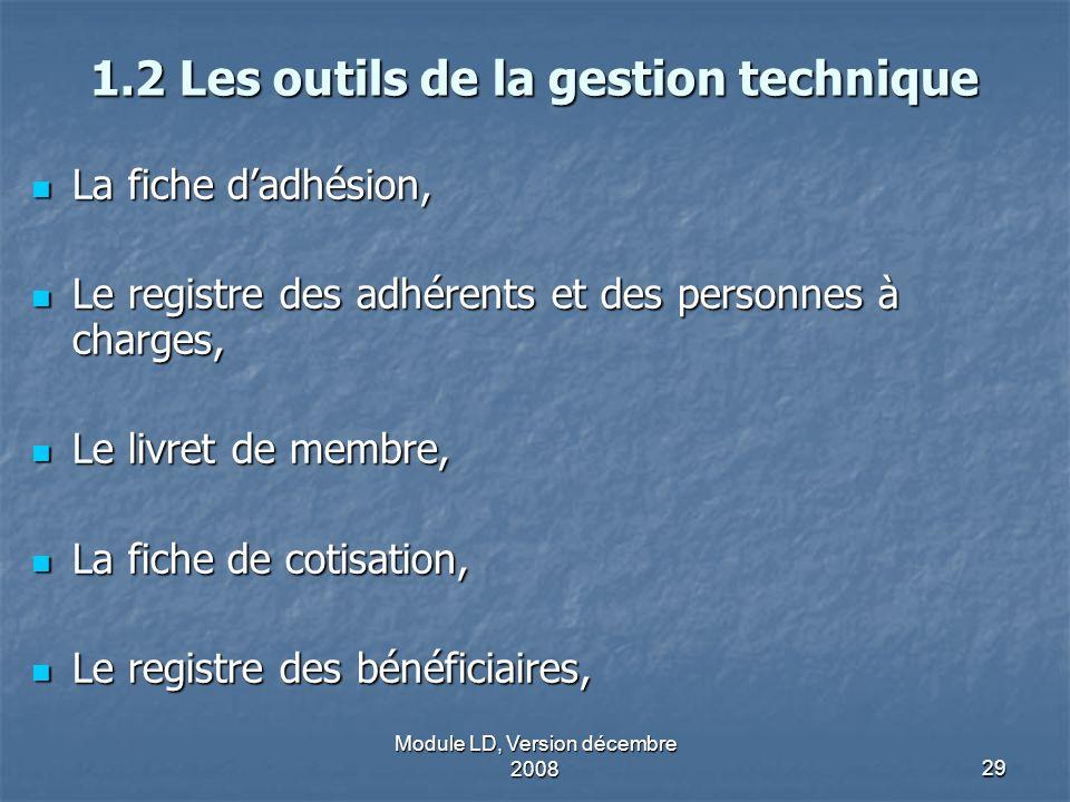 Module LD, Version décembre 200829 1.2 Les outils de la gestion technique La fiche dadhésion, La fiche dadhésion, Le registre des adhérents et des per
