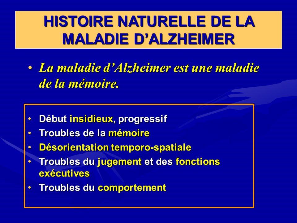 HISTOIRE NATURELLE DE LA MALADIE DALZHEIMER La maladie dAlzheimer est une maladie de la mémoire.La maladie dAlzheimer est une maladie de la mémoire. D