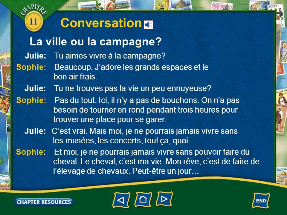 11 Conversation La ville ou la campagne?