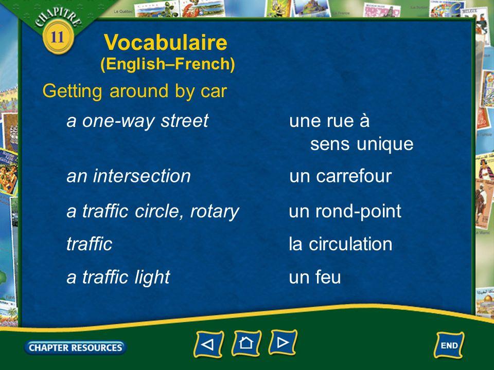 11 Describing a city une usinea factory un ouvrier, une ouvrière a factory worker traverser la rue to cross the road Vocabulaire (English–French)