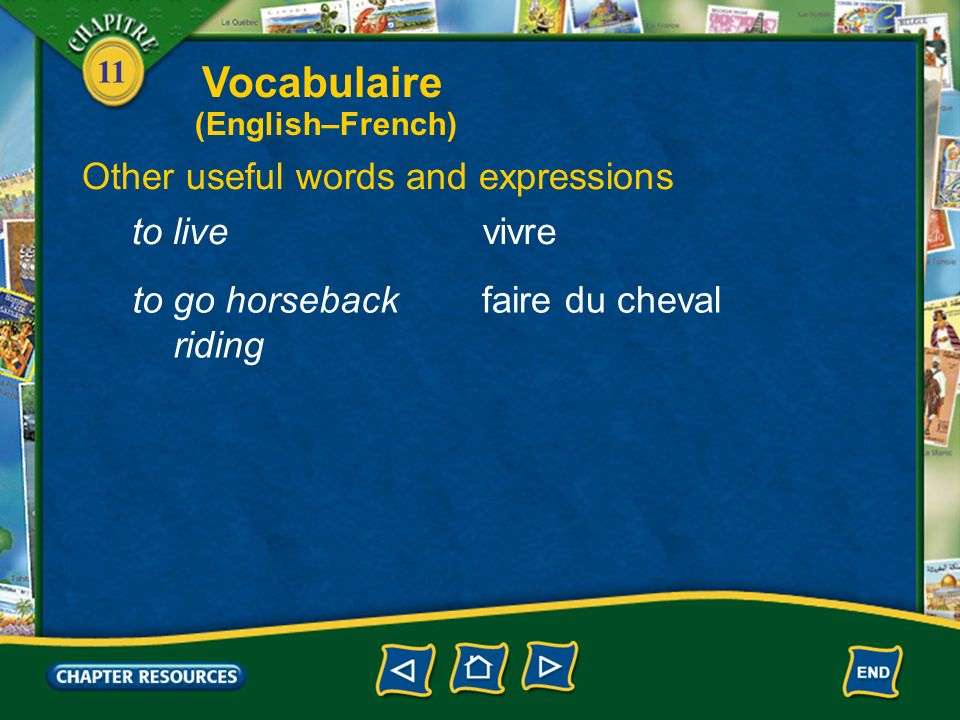 11 Identifying some farm animals un lapina rabbit un cochona pig un chevala horse un troupeau (de)a herd (of) Vocabulaire (English–French)