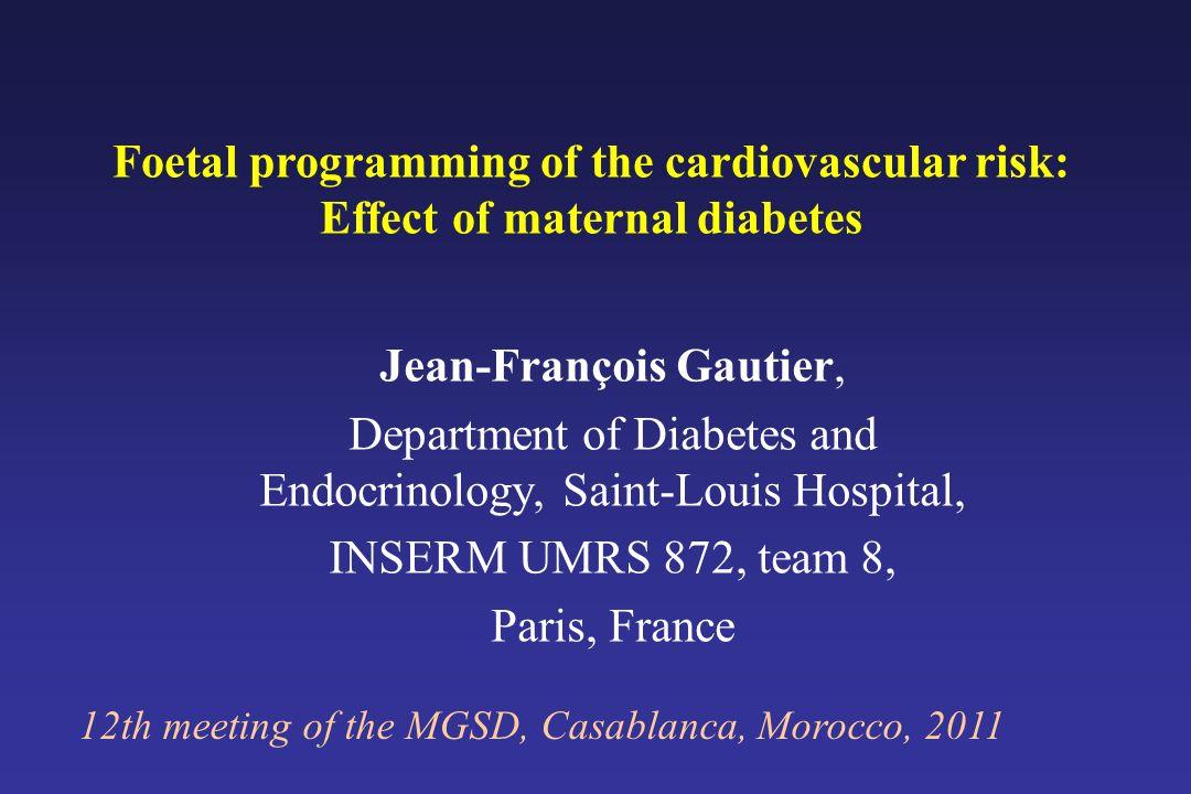 Physiopathologie du diabète de type 2 Etudes des descendants de parents diabétiques Facteurs environnementaux Facteurs génétiques