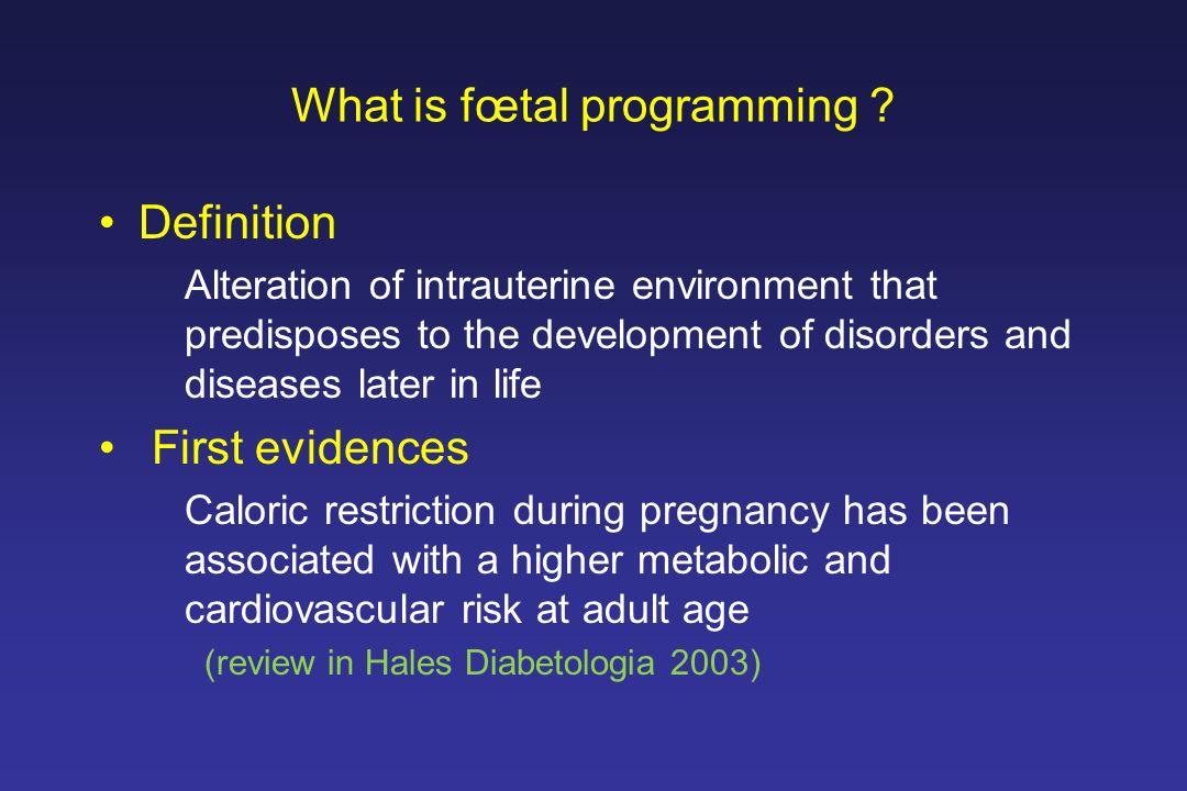 1st generationMild diabetesSevere diabetes 6.5 and 9.8 mmol/l glycaemia > 20 mmol/l 2nd generation Foetus Mild Hyperglyc.