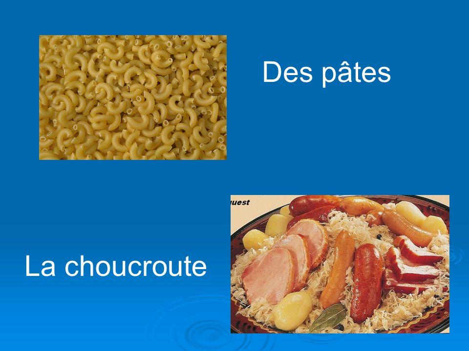 Des pâtes La choucroute