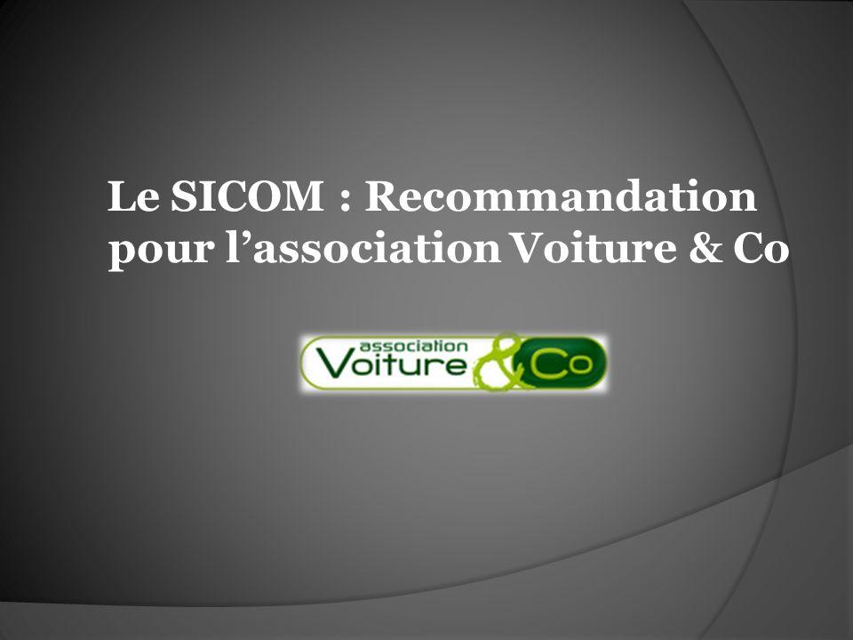 Le SICOM : Recommandation pour lassociation Voiture & Co