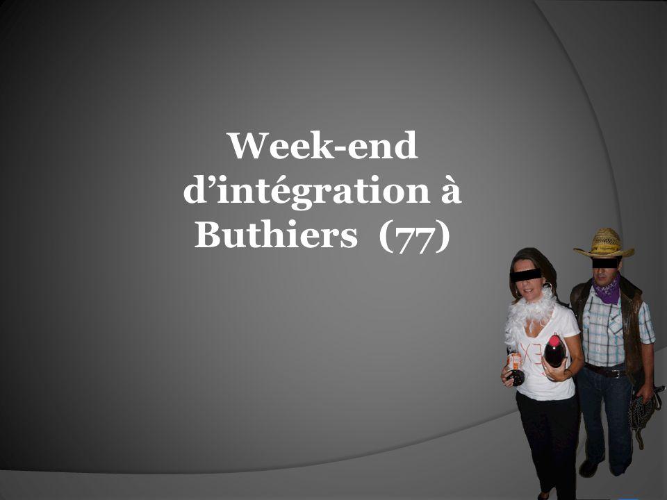 Week-end dintégration à Buthiers (77)